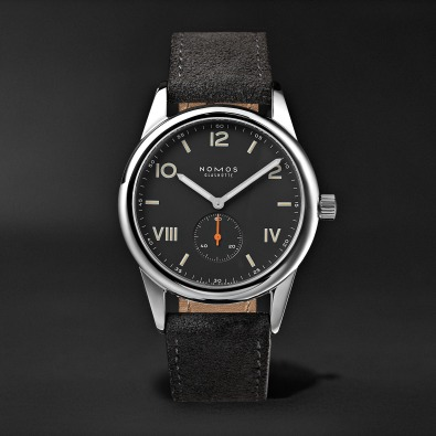 Nomos - Club 38 Campus Nacht 38mm Stainless Steel and Leather Watch