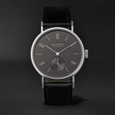 Nomos - Tangomat Automatic 38mm Ruthenium, Stainless Steel and Cordovan Leather Watch