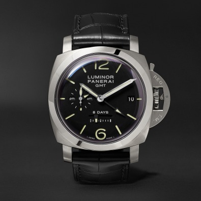 Panerai Luminor 1950 8 Days GMT 44mm Stainless Steel and Alligator Watch