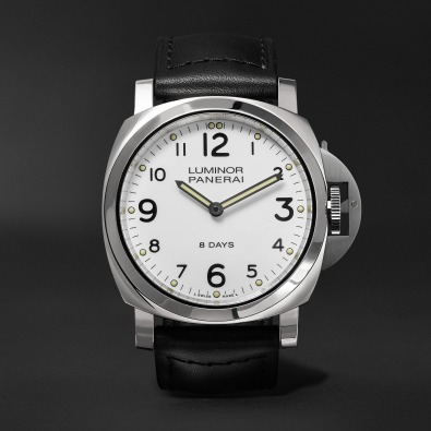 Panerai Luminor Base 8 Days 44mm Stainless Steel and Leather Watch