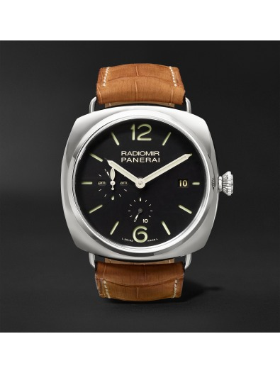Panerai Radiomir 10 Days GMT Automatic 47mm Steel and Alligator Watch