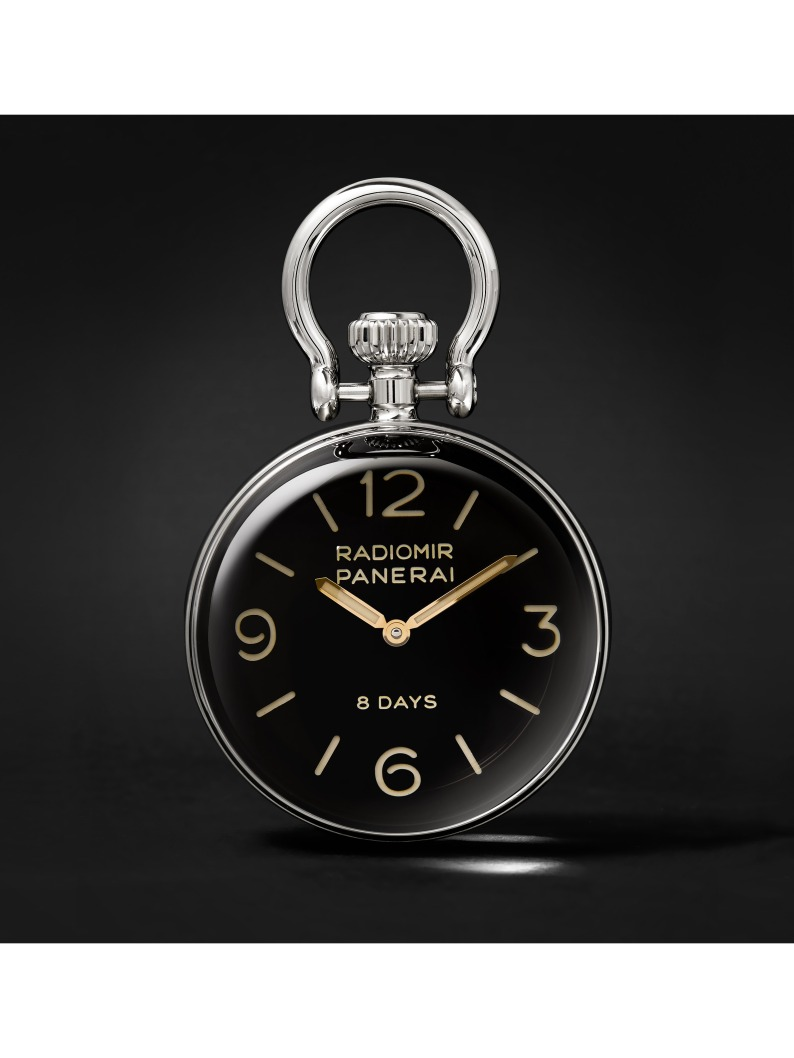 Panerai Radiomir 8 Days 65mm Stainless Steel Table Clock