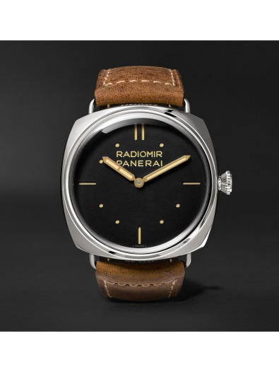 Panerai Radiomir S.L.C. 3 Days 47mm Steel and Leather Watch