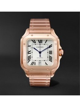 Santos Automatic Large Pink Gold Watch (PID 1073518)