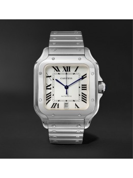 Santos Automatic Large Stainless Steel Watch (PID 1073521)