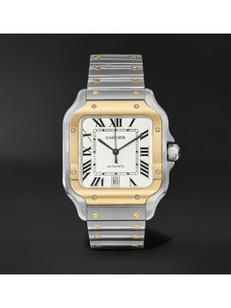 Santos Automatic Large Yellow Gold, Stainless Steel Watch (PID 1073520)